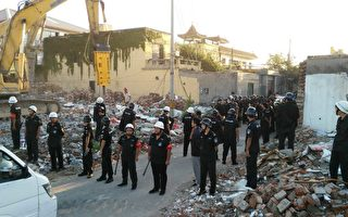 8月25日,北京市朝阳区崔各庄乡奶西村因为赔偿过低,村民抵制棚户区改造拆迁。(受访者提供)