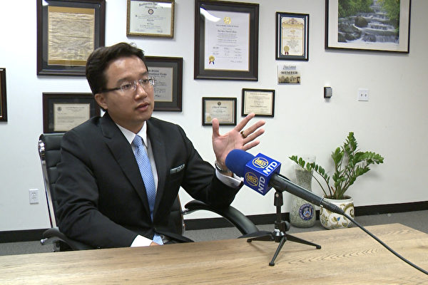 洛杉矶CS律师事务所邹沛桥律师。(李子文/大纪元)