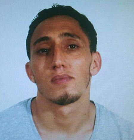 8月17日西班牙巴塞罗那恐袭案,警方发布一张嫌犯照片。(巴塞罗那警方提供)