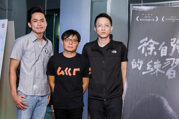 《徐自強的練習題》電影於8月7日舉行首映會,圖為主創人員合影。(穀得提供)
