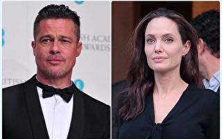 """安洁莉娜‧裘莉(右)于去年9月诉请与""""小布""""布莱德‧彼特(左)离婚,不过一直没动静,外传两人有望复合。(GettyImages/大纪元合成)"""