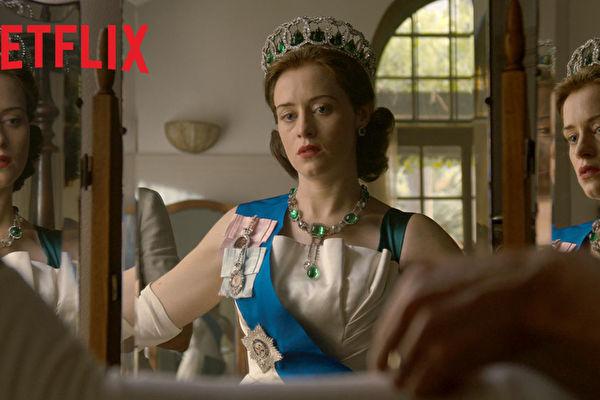 金球奖最佳影集《王冠》第二季剧照。(Netflix提供)