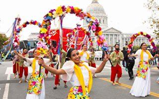 2017年8月12日,旧金山菲律宾文化节游行。(周容/大纪元)