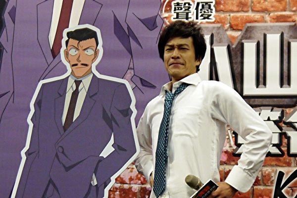 《名侦探柯南》签名会,饰演毛利小五郎的声优小山力也先生于14日访台会粉丝。(曼迪传播提供)