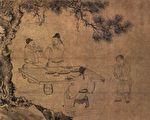 《古賢詩意圖》描寫杜甫的《東山宴飲圖》(公有領域)