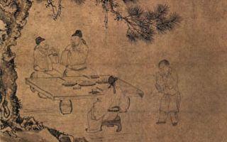 《古贤诗意图》描写杜甫的《东山宴饮图》(公有领域)