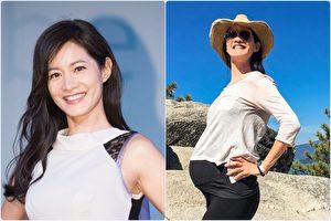 Janet懷孕8個月(右)依然停不下來愛往戶外跑,挺肚趴趴走也挺《瘋臺灣》。左為2016年12月孕前照。(陳柏州,Discovery亞太電視網/大紀元合成)