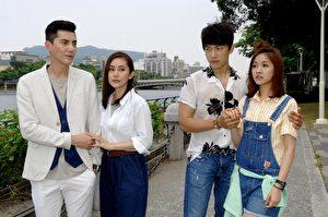 《春風愛河邊》高雄開拍,主演王凱、林玟誼、王宇婕和李政穎。(華視提供)
