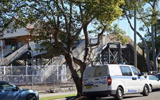 警方在Tempe火車站現場調查。(劉頌恩/大紀元)