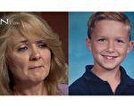 车祸过去多年,8岁的兰登(图右)已长大成人,但还记得濒死的经验,认为是真实的发生。妈妈朱莉(图左)据此写了一本书,鼓舞了很多人逆境中不言放弃。(视频截图/大纪元合成)