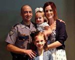 丈夫殉職後,兩個女兒對媽媽說出的話令她摸不著頭腦,接下來卻一一應驗。(視頻截圖/大紀元合成)