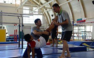 奧運金牌選手─Makuts 傳承宜蘭體操明日之星。(宜蘭縣政府提供)