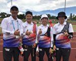 由左至右倪大智教练、雷千莹、谭雅婷、彭家楙。(新竹市府提供)