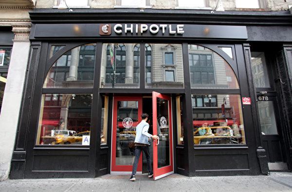 一名食客走入Chipotle餐馆。Chipotle是墨西哥风味连锁快餐店。(Shutterstock)
