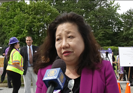 马里兰州参议员李凤迁(Susan Lee)。(新唐人提供)