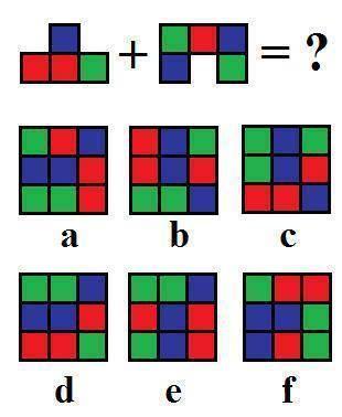 最頂上的兩個魔方的面拼合在一起是下面6個選項中的那一張圖呢?(ntd.tv)