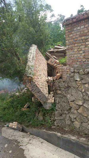 九寨溝漳扎鎮上四寨村受災情況。(村民提供)