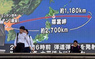 本週二,朝鮮又發射一枚導彈,飛越日本北部,最終落於北海道附近海域。(AFP)