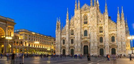 米兰大教堂坐落于市中心的大教堂广场,是意大利最大的主教座堂。 (italy.ntdtvla.com/destinations/)