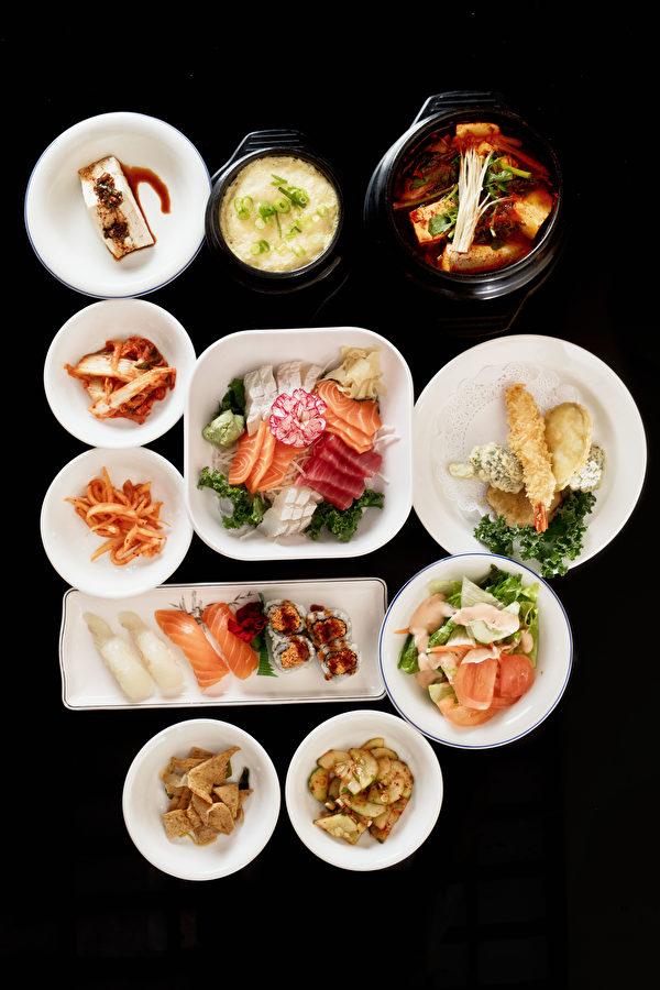 生鱼片特价午餐。(张学慧/大纪元)