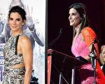 美媒Goalcast.com将好莱坞巨星珊卓布拉克的一段获奖感言制作成了一支激励人心的演讲花絮,引起热烈反响。(Getty Images/大纪元合成)