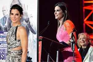 美媒Goalcast.com將好萊塢巨星珊卓布拉克的一段獲獎感言製作成了一支激勵人心的演講花絮,引起熱烈反響。(Getty Images/大紀元合成)