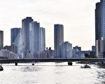 东京湾公寓群。(卢勇/大纪元)