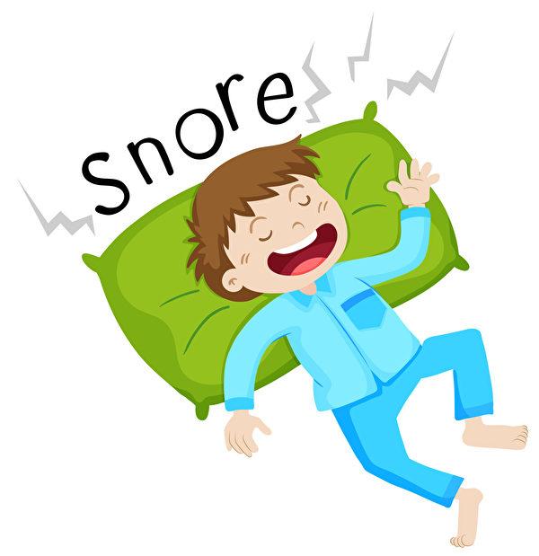 仰睡比較容易打鼾,最好側睡。(Fotolia)