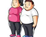 美國一項研究發現,每天自行量體重可使身體質量指數和脂肪比例降低。圖為一對肥胖的情侶。(Fotolia)