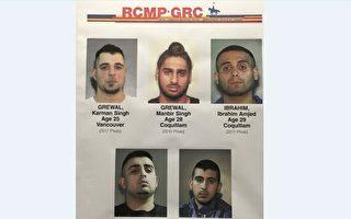 圖:素里警方確認,五名男子是多起槍擊案件的殺害目標。(警方提供)