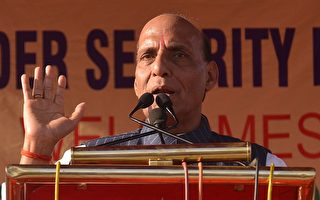 印度內政部長拉傑納特·辛格(Rajnath Singh)星期一表示,洞朗地區的對峙不久即將得到解決。(NARINDER NANU/AFP/Getty Images)