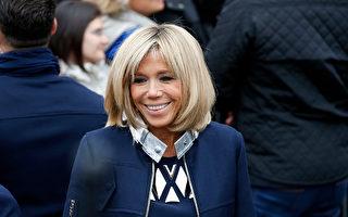 法國第一夫人布麗吉特·馬克龍(Brigitte Macron)第一次作為總統夫人接受媒體專訪,採訪她的法國女性雜誌《Elle》將在8月18日上架的週刊上發表採訪的完整內容。圖為今年5月7日馬克龍當選總統那天的布麗吉特。 (Thierry Chesnot/Getty Images)