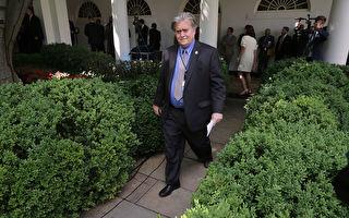 白宫首席策略师班农(Steve Bannon)星期五(8月18日)离职后,转任布莱特巴特新闻(Breitbart News)执行总裁,在接受其它媒体访问时表示,今后将为川普而战。(Chip Somodevilla/Getty Images)