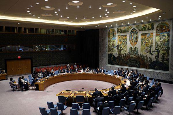 聯合國安理會星期六(8月5日)一致通過擴大制裁朝鮮決議,削減朝鮮年出口金額(30億美元)至少三分之一。(JEWEL SAMAD/AFP/Getty Images)