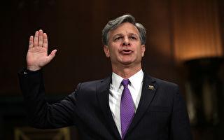 美國參議院星期二以92票對5票的懸殊比數,確認由總統川普(特朗普)提名的前助理司法部長克里斯托弗.雷(Christopher Wray)擔任聯邦調查局(FBI)局長。(Alex Wong/Getty Images)