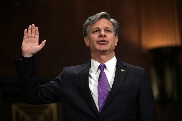 美国参议院星期二以92票对5票的悬殊比数,确认由总统川普(特朗普)提名的前助理司法部长克里斯托弗.雷(Christopher Wray)担任联邦调查局(FBI)局长。(Alex Wong/Getty Images)
