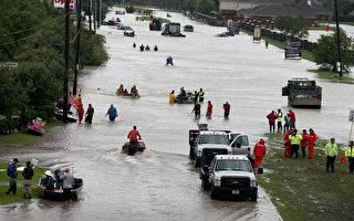 哈維風暴為美國德州帶來創紀錄的降雨,第四大城市休斯頓部分地區降雨量打破美國史上熱帶風暴帶來最多雨量的紀錄。(Scott Olson/Getty Images)