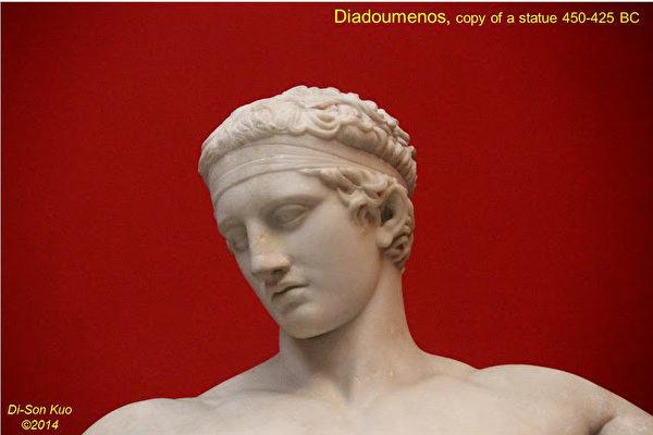 雅典国家考古博物馆雕塑。(行云提供)