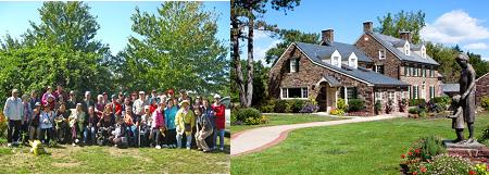 左图:PASSI长者们郊游;右图:赛珍珠故居(由PASSi提供)