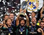 上赛季欧冠冠军皇马以2:1击败了欧联杯得主曼联,成功卫冕欧洲超级杯。 (Dan Mullan/Getty Images)