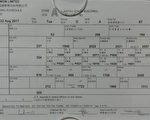 青屿干线的管理公司内部员工提供的资料显示,公司没有聘请足够的收银员,只能够抽调其它部门的人手应付收费工作。(民主党提供)