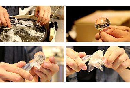 金鱼糖艺制作过程:初成型。(树森/大纪元)
