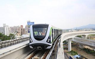 台中市捷運綠線30日進行電聯車測試,試乘人員由G0站(北屯機廠)上車,G4站(北屯路松竹路口)下車,並預計安全前提下,10月推進至台灣大道、文心路口。(台中市政府提供)