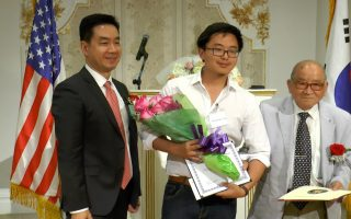 耶鲁大学修读计算机科学的鲁汇深是唯一的华裔受奖人。 (柯婷婷/大纪元)