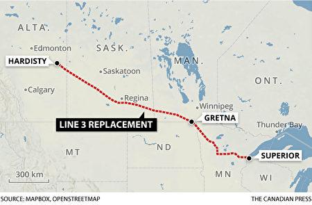 3號輸油管線總長1,660公里。(加通社)