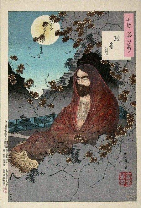 禪宗始祖達摩画像(維基百科公有領域)