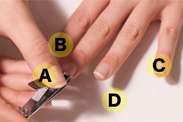 剪指甲的顺序,透露了你的脾气特质和性格。(微博图片/大纪元合成)