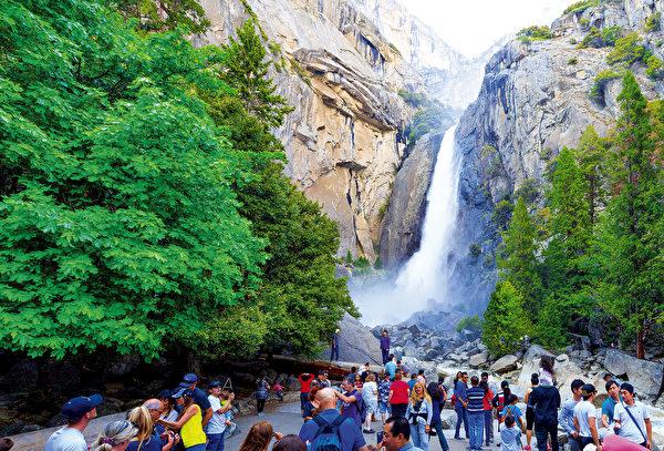 優勝美地瀑布。(Shutterstock)