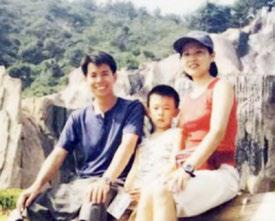 罗子昭夫妇与儿子。(本人提供)