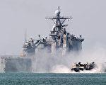 韓國海軍亦於9月5日在朝鮮半島東海進行了大規模的實彈演習,以此警告朝鮮勿繼續進行任何挑釁。圖為之前美韓軍演示意圖。(KIM DOO-HO/AFP)